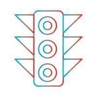 Linie Steigungs-perfekter Ikonen-Vektor oder Piktogramm-Illustration vektor