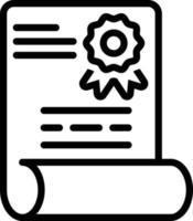 Liniensymbol für Diplom vektor