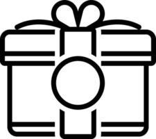 Liniensymbol für Geschenk vektor