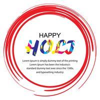 Glückliche Holi Festival Illustration vektor