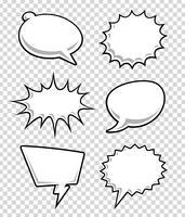 Komische Sprechblasen vektor