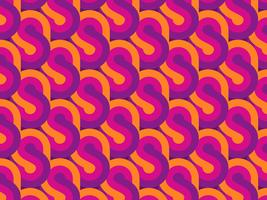 Geometrischer Retro Musterhintergrund vektor