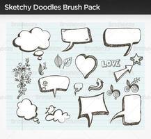 skizzenhafte Doodle-Vektor-Pack vektor