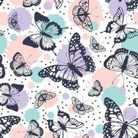 Vektor-Schmetterlingsmuster. abstrakter nahtloser Hintergrund. vektor