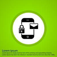 Vektor mobile Nachrichtensymbol