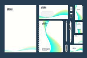Einzeltasche im A4-Format, Ordnermodell, Design blau und gelber Farbverlauf vektor