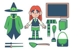 Zaubererschule vektor