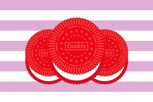 Illustration Vektorgrafik von Premium-Rot-Sandwich-Cookies. vektor