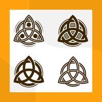 Flache moderne Triquetra Dreiheits-Knoten-Vektor-Sammlung