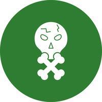 Vektor-Schädel-Symbol
