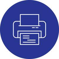 Vektor-Drucker-Symbol