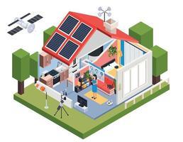 Meteorologie Smart House Zusammensetzung vektor