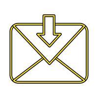 Meddelande Perfekt ikonvektor eller piktogramillustration i fylld stil
