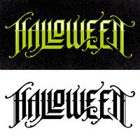 Halloween-handgezeichnete gotische Beschriftung