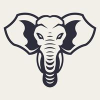 Elefant-Maskottchen-Vektor-Ikone