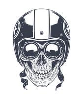 dotwork rider skalle vektor