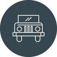 Vektor-Jeep-Symbol