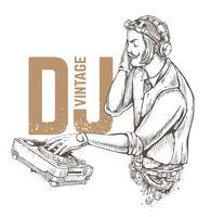 Weinlese-DJ vektor