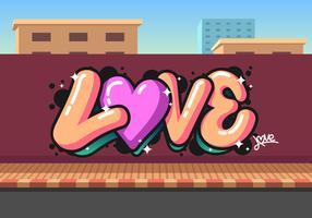 Liebe Graffiti-Vektor vektor