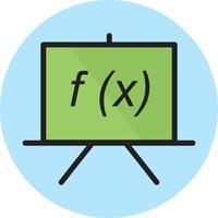 Linjefylld ikon vektor