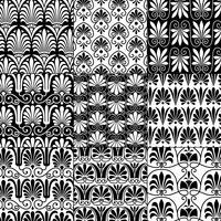 nahtlose klassische griechische Schwarzweiss-Muster