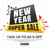 Verkauf-Hintergrund-Hintergrund des neuen Jahres vektor