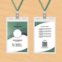 ID-Karten-Vorlagendesign 11 vektor