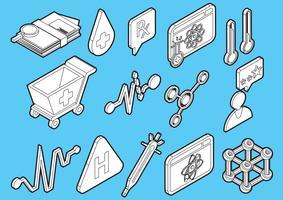 Illustration von grafischen Krankenhausikonen der Informationen stellte Konzept ein