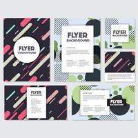 frische Hintergrund Flyer Stil Hintergrund Design-Vorlage