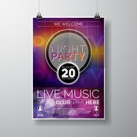 Nacht-Party-Flyer-Design