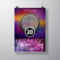Night Party Flyer Design vektor