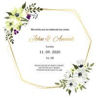 Kranz Hochzeitseinladung vektor