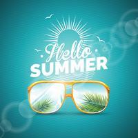 Sommerferien-Thema-Illustration