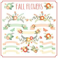 Fallen Sie florale Elemente