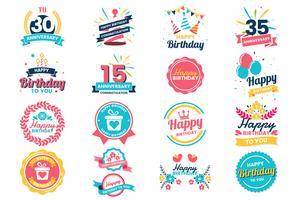 Alles- Gute zum Geburtstagvektorlogo für Fahne vektor