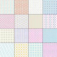 små sömlösa geometriska mönster vektor