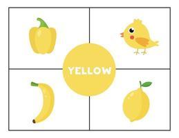 Erlernen der Grundfarben für Kinder. Gelb. vektor
