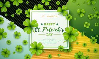 Glad Saint Patrick dag illustration