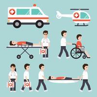 Medicinska och sjukhus tecken vektor
