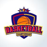 Basket logo, Mallar av sport T-shirt vektor