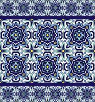 Traditionelle portugiesische Azulejos der blauen Verzierung. Orientalisches nahtloses Muster