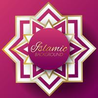 islamisk bakgrundsmall Vector