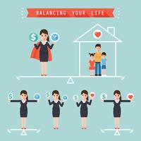 Leben balancieren vektor