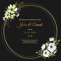 Schwarze Hochzeitseinladung vektor
