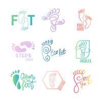 Logo der Mitte der gesunden Füße.