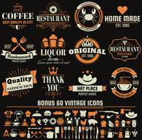 Restaurang Retro Vector Logo för banner