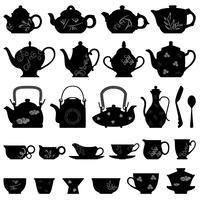 Teekanne und Cup-Set vektor