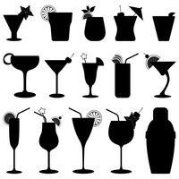 Cocktail Drick Fruktsaft. vektor