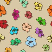 Nahtlose Musterhand Kirschblütes, die auf Vektorkunst skizziert.