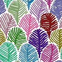 Färgglada fjäder klotter teckning sömlös bakgrund. vektor